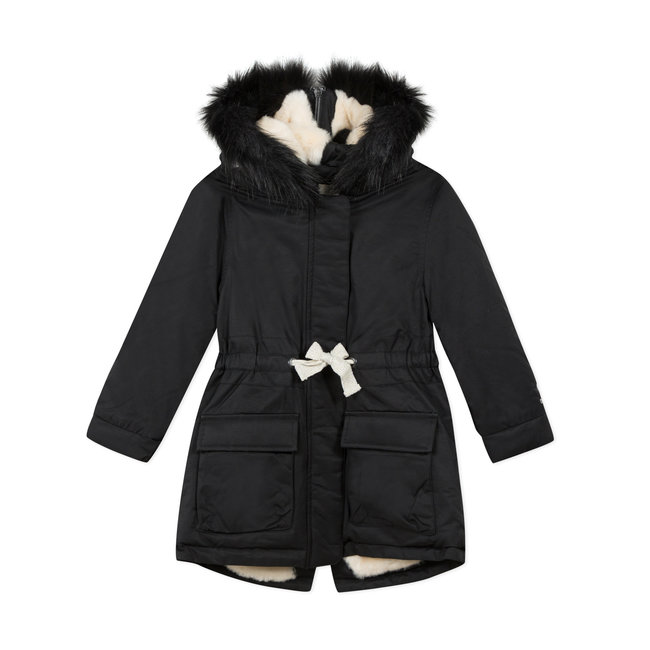 CATIMINI Girls' coated fabric parka