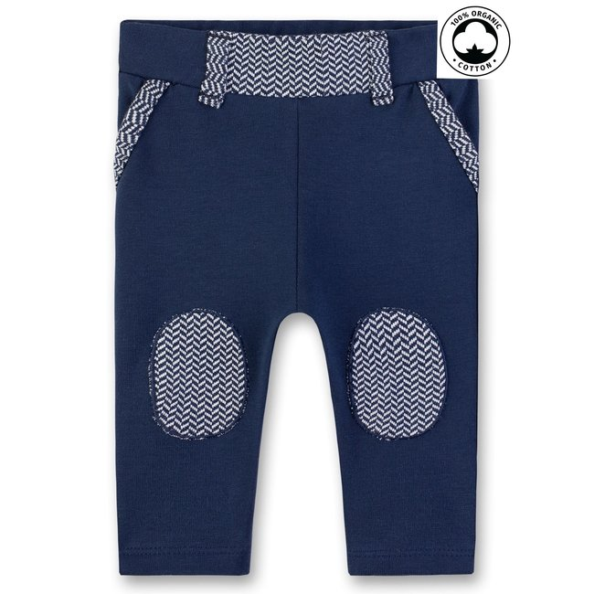SANETTA Baby boys pants deep blue with knee patch