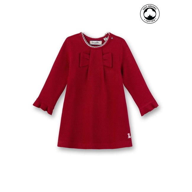 SANETTA Baby girls dress rosso