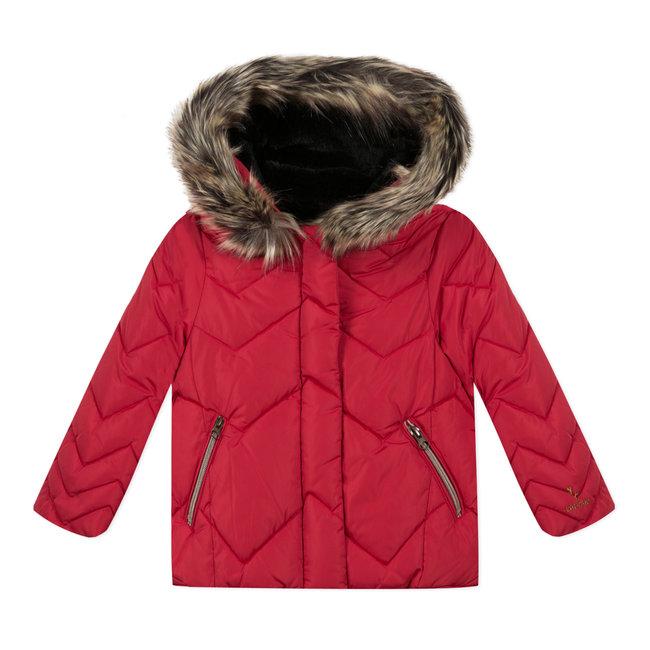 CATIMINI Girl's red coated padded jacket