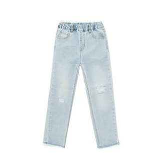 CATIMINI Girl's knitted Indigo jeans