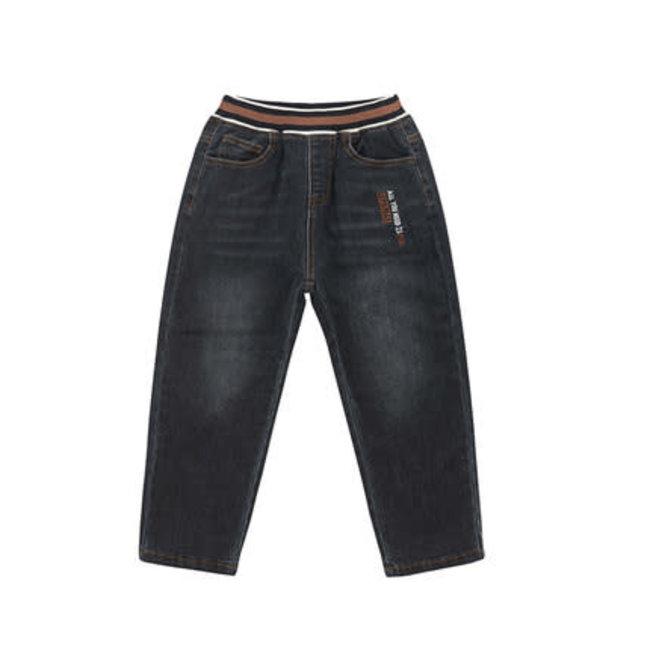 CATIMINI Boy's knit black denim jeans