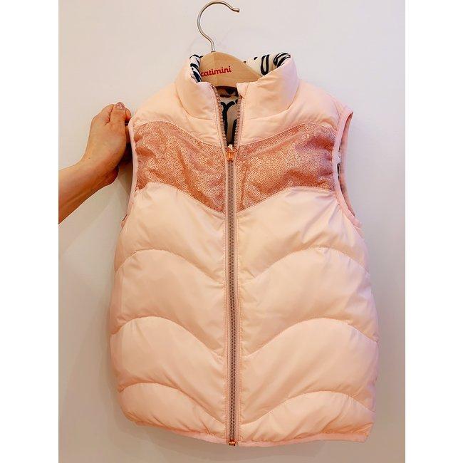 CATIMINI Girls' pink down vest