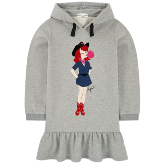 SONIA RYKIEL Iplette Print sweatshirt dress with a hood