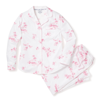 Petite Plume Women's English Rose Floral Pajama Set