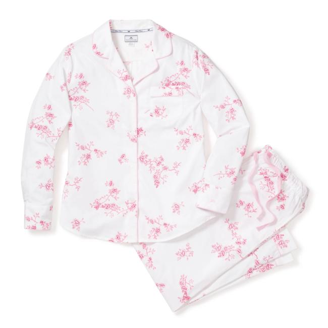 Petite Plume Women's English Rose Floral Pajama Set