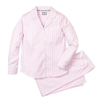 Petite Plume Women's Pink Gingham Pajama Set