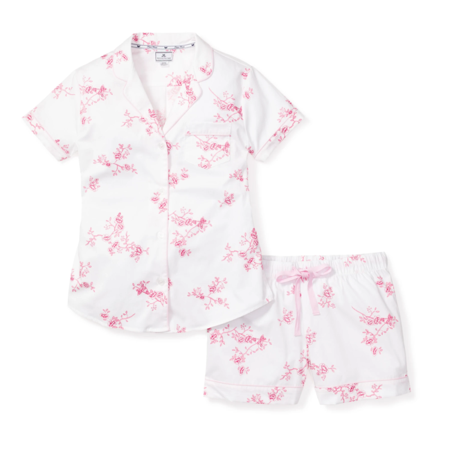 Petite Plume Women's English Rose Floral Short Set