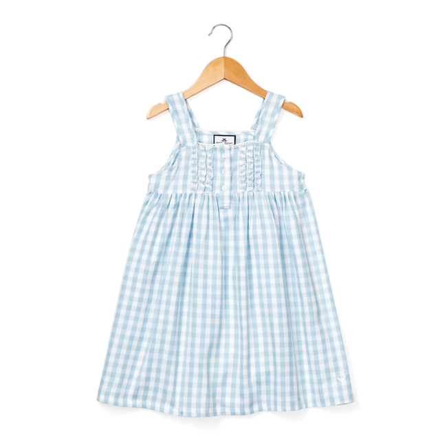 Petite Plume Light Blue Gingham Charlotte Nightgown