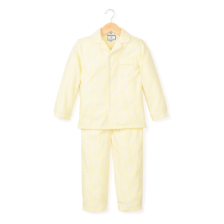 Petite Plume Yellow Gingham Pajama Set