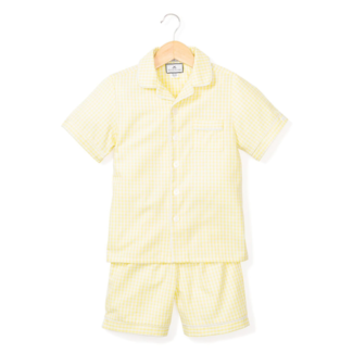 Petite Plume Yellow Gingham Classic Short Set