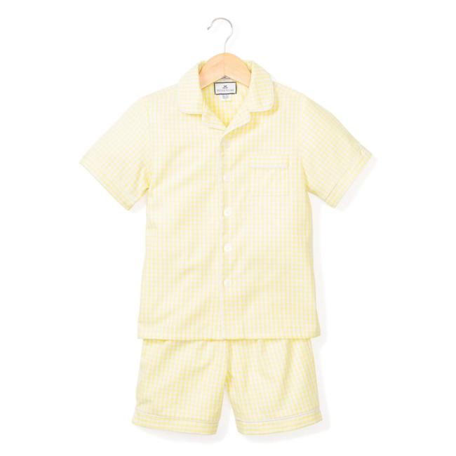Petite Plume Yellow Gingham Classic Short Set