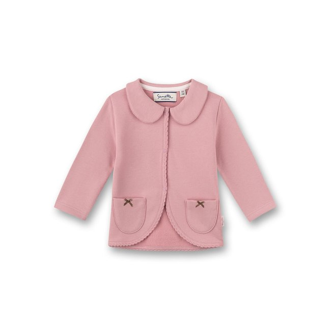 SANETTA Girls' sweat jacket Rosa Lovely Teddy