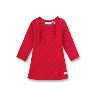 SANETTA Girls' dress red with white dots