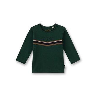 SANETTA Boys shirt long-sleeved green Little Teddy