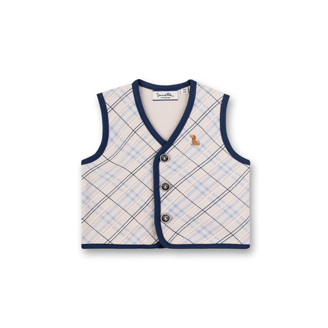 SANETTA Boys vest gray Smart Elephant
