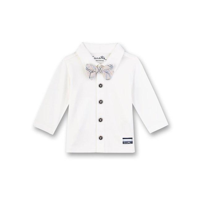 SANETTA Off White Smart Elephant Boys Shirt
