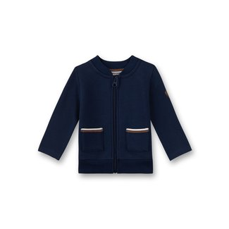 SANETTA Boys sweat jacket dark blue Little Teddy