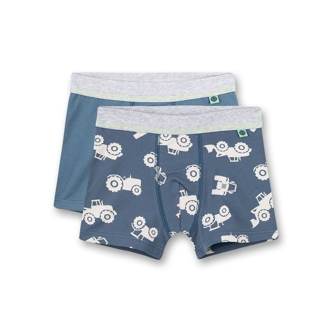 SANETTA Boys shorts (double pack) Bagger all-over and blue Boy at Work