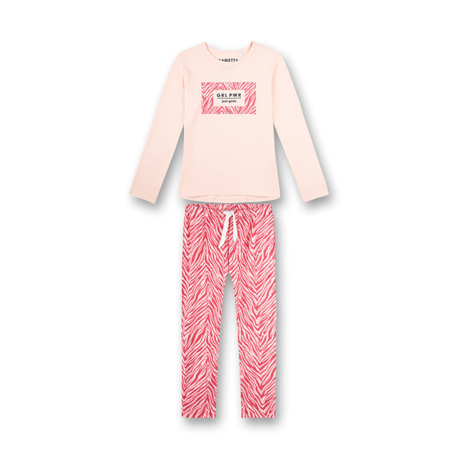 SANETTA Girls pajamas long pink athleisure roller girl