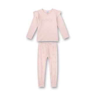 SANETTA Girls long pajamas pink Flowers and Butterflies