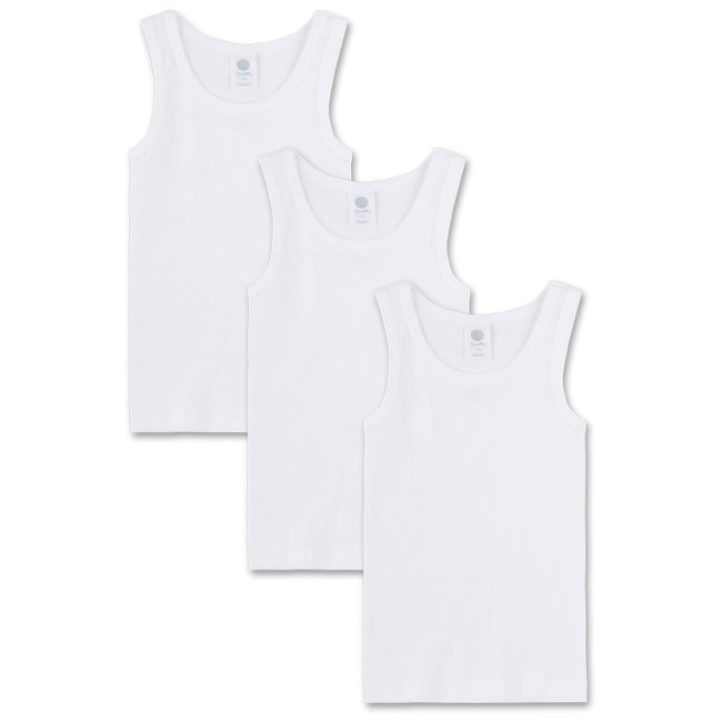 SANETTA Boys undershirt (pack of three) white