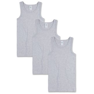 SANETTA Boys undershirt (pack of three) hellgrau melange
