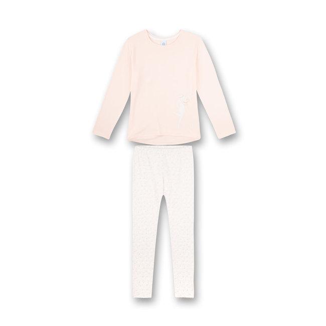 SANETTA Girls pajamas long pink Art Deco