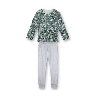 SANETTA Boys pajamas long blue camouflage all-over Big City Life