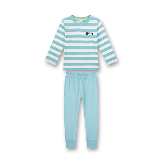 SANETTA Boys pajamas long blue Sun, Palms and Beach