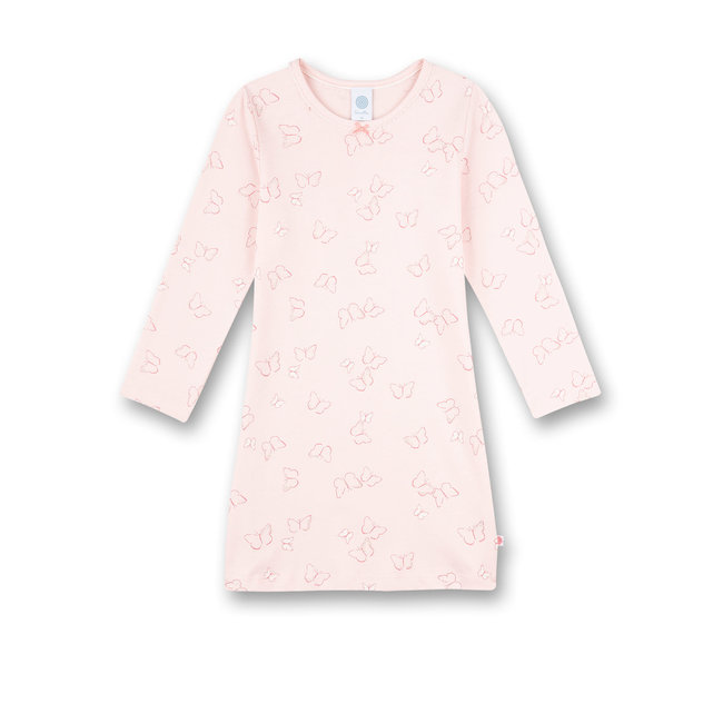 SANETTA Girls nightgown Rosa Flowers and Butterflies