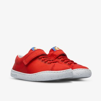 CAMPER Peu touring Red shoe with velcro and laces for kids