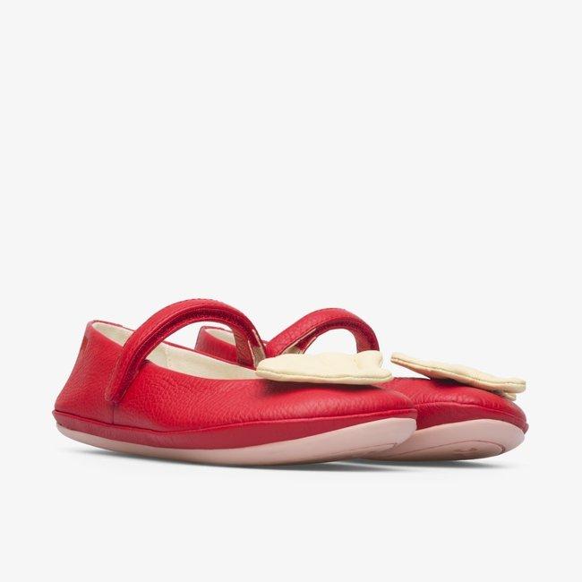 CAMPER Red TWINS ballerina shoe for girls