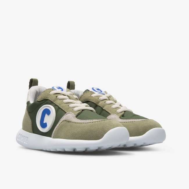 CAMPER Driftie green sneaker with laces for kids