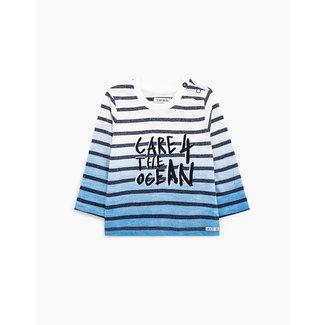 IKKS Baby boys' deep-dye organic cotton sailor T-shirt