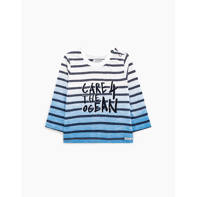 IKKS Baby boys' deep-dye organic cotton sailor T-shirt