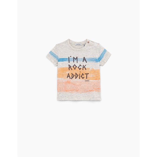 IKKS Baby boys' sand organic cotton T-shirt + coloured stripes