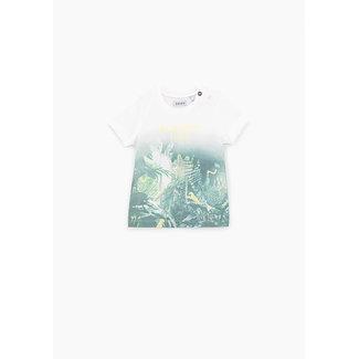 IKKS Baby boys' off-white jungle graphic organic cotton T-shirt