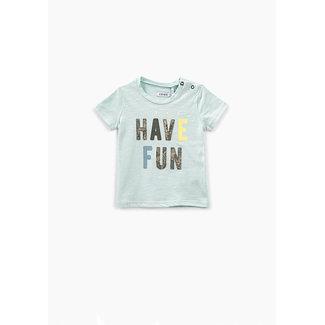 IKKS Baby boy celadon slogan print T-shirt