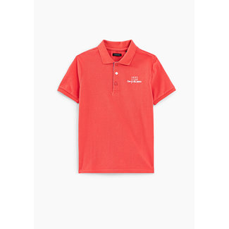IKKS BOYS' CORAL POLO SHIRT WITH SURFBOARD EMBROIDERY ON BACK