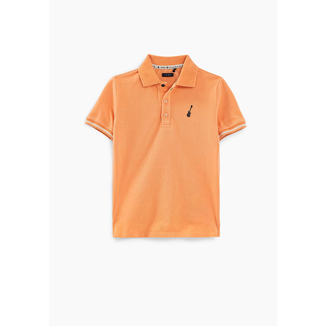 IKKS BOYS' FADED ORANGE POLO SHIRT WITH PRINTED BACK
