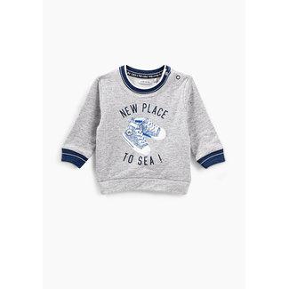 IKKS Baby boys' medium grey marl trainers visual sweatshirt