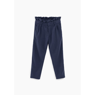 IKKS GIRLS' NAVY PAPER BAG TROUSERS