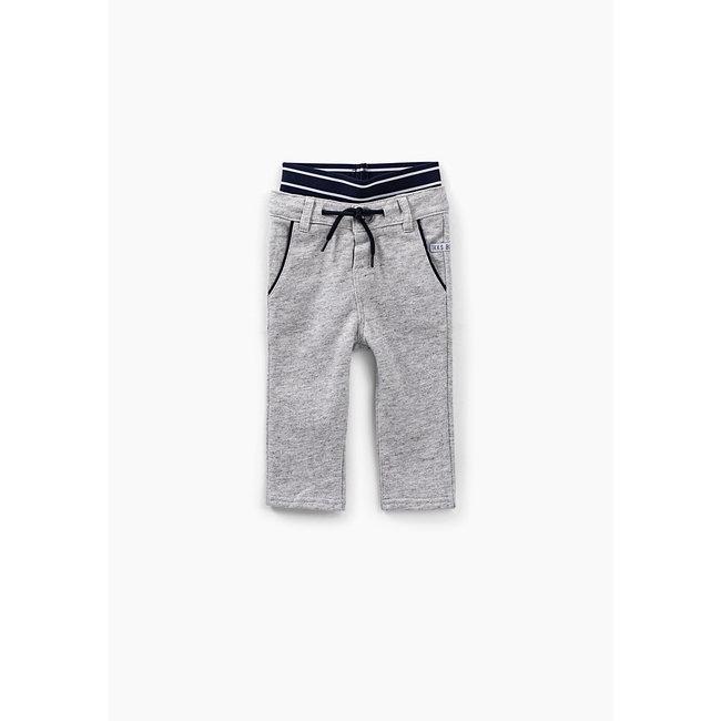 IKKS Baby boys' medium grey marl double waistband trousers
