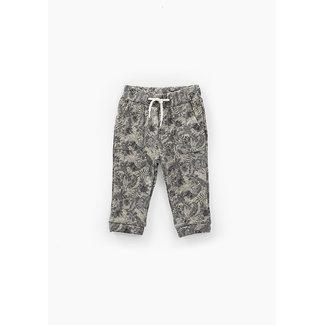 IKKS Baby boys' bronze camouflage sweatshirt fabric trousers
