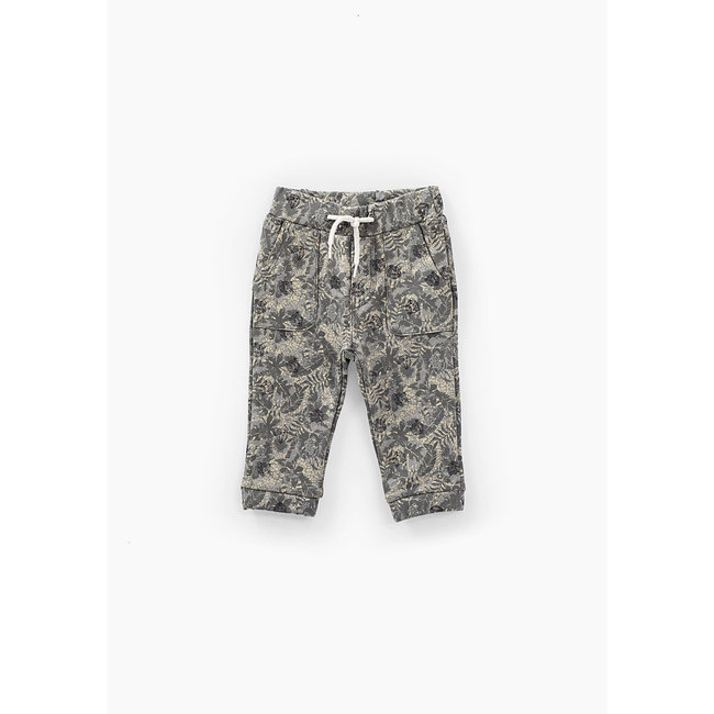 IKKS Baby boys' bronze camouflage sweatshirt fabric trousers