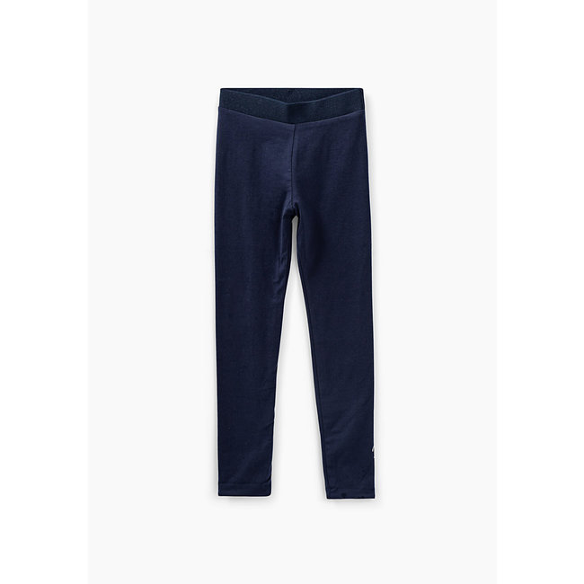 IKKS GIRLS' NAVY AND MEDIUM PINK REVERSIBLE LEGGINGS