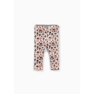 IKKS Baby girls' grey and palm tree print reversible leggings