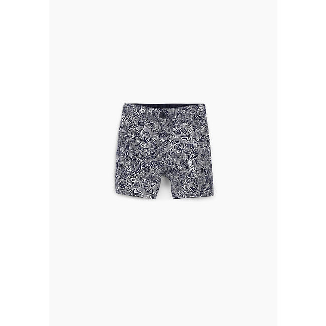 IKKS Baby boys' navy and street print reversible Bermudas