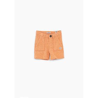 IKKS Baby boys' faded orange sweatshirt fabric Bermudas